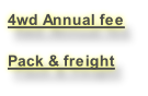 Pack & freight fee